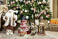 AOFOTO ビニール製 クリスマス 雪の景色 背景