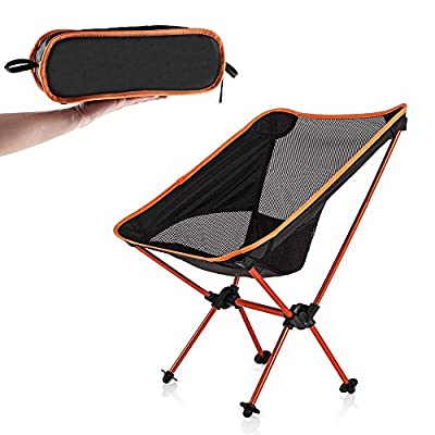 Newdora Portable Ultralight Folding Camping Chair Compact Camping Backpacking Chairs with Carry Bag for Hiking Traveling Hunting Fishing
