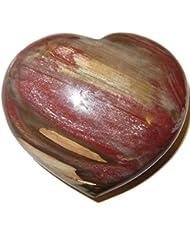サテンクリスタルPetrified Wood Heart 3.3