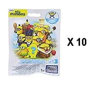 Minions Mega Bloks シリーズ 3 ミニフィギュア ブラインドバッグ パーティーの記念品 - 10個パック