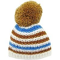 Dovewill 6カラー ドールアクセサリー 18インチアメリカンガール人形のため ストライプ ニット 帽子 スカーフ  人形服アクセサリー - ホワイト帽子
