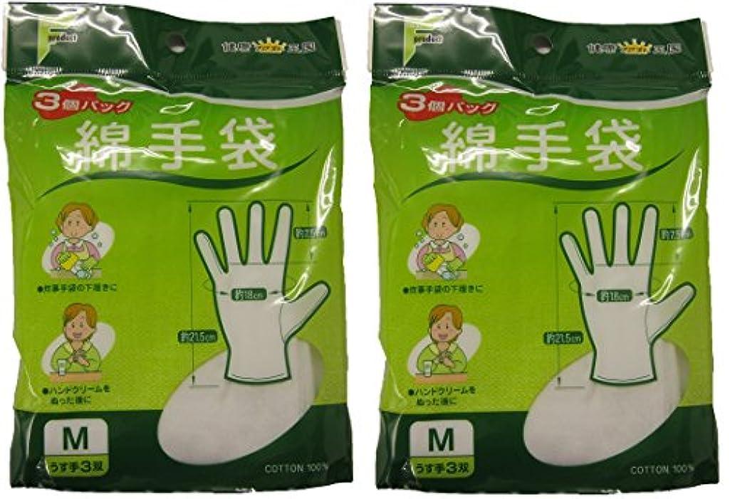 水経験それに応じてファスト綿手袋 Mサイズ 3双 M3双【2個セット】