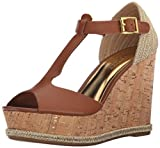 Lauren by Ralph Lauren Women's Sheila Espadrille Wedge Sandal Polo Tan Soft Burnished Calf 9.5 B US [並行輸入品]