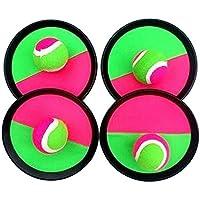 [ラウンド、 四]クラシックキッズトスとキャッチボールゲームセットキャッチボールおもちゃセット