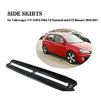 JCSPORTLINE for Volkswagen Golf 6用カーパーツ PP製 サイドステップ サイド スカート アプロンフィット サイドスポイラー専用パーツ/for フォルクスワーゲン ゴルフ 6 MK6 VI 標準バンパー GTI バンパー 2010-2013モデルに対応