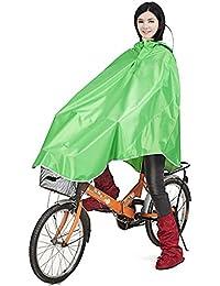 (クーボ)QUBO 自転車レインコート ポンチョ レイン ポンチョ型 大きいツバ 厚手生地 雨具 男女兼用 (収納袋付) フリーサイズ