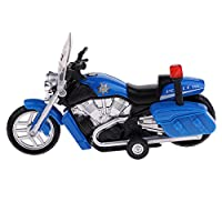 Fenteer 全2カラー 合金製 オートバイモデル おもちゃ 子ども 贈り物 ダイキャストおもちゃ LEDライトと音付き - 青