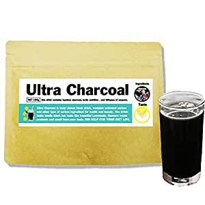 活性炭 チャコールジュース で マスタークレンズ ウルトラチャコール レモネード 150g 20種類のアミノ酸 ビタミン ミネラル 酵素入り