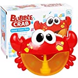 Bubble Machine Crab Bubble Maker for Baby Kids Toddler Tub Toy Automated Spout Bubble Machine Battery Operated Shower Toy
