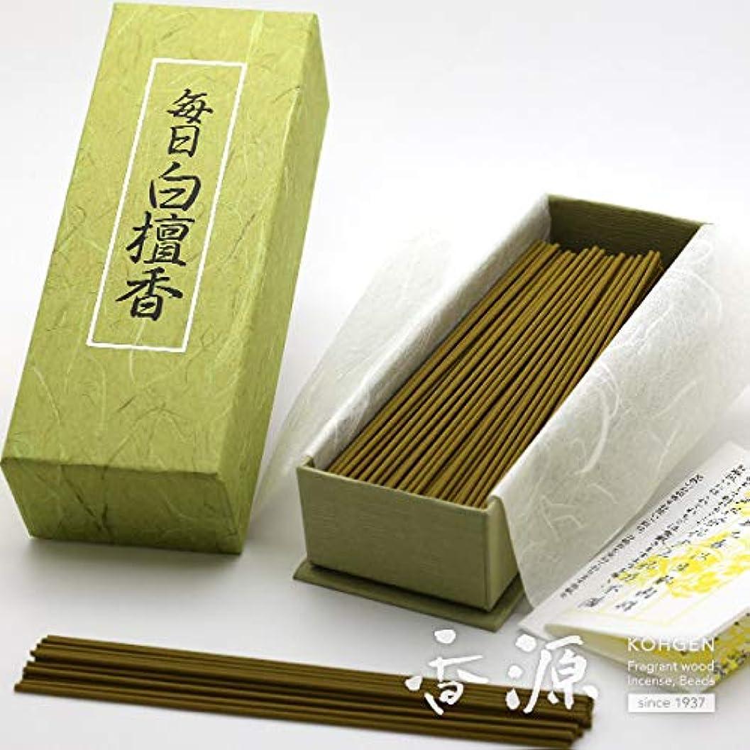 掻くロープタイプライター日本香堂のお香 毎日白檀香 お徳用バラ詰