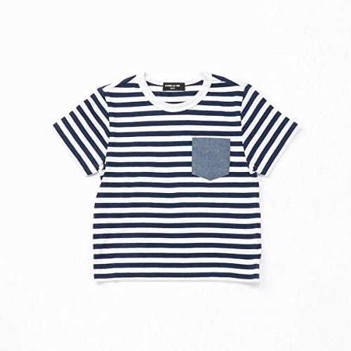 (コムサ イズム) COMME CA ISM ポケット付ボーダーTシャツ 98-61TF05-108 100cm ネイビー