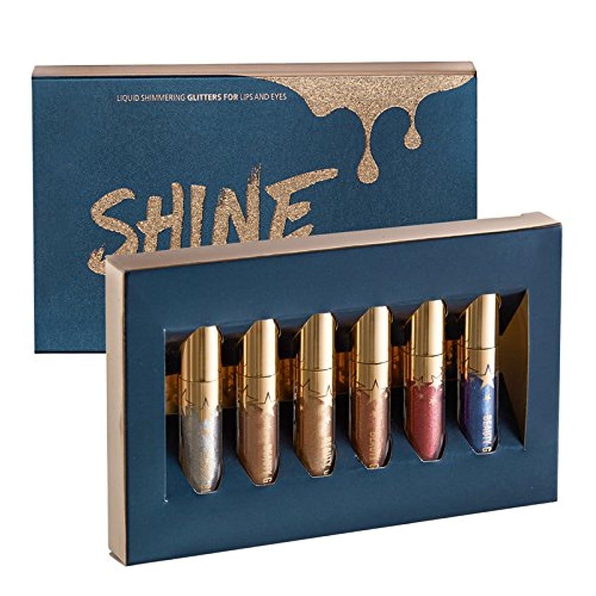 新しい意味測定可能正確ShineStyle Beauty Glazed 6Pcs/Lot Shime Shine Metallic Liquid Lip Gloss Lime Lip Stick Lipgloss Lipstick Makeup Best Selling 2018 Product
