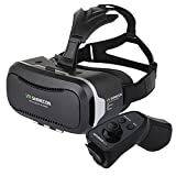 "Chunnuan VR SHINECON 2nd VersionVirtual Reality Glasses Headset for 3D Videos Movies Games +Remote Control Gamepad Compatible with Most 3.5""-6.0"" iPhone, Samsung, HTC, LG, Sony, Moto Smartphone [並行輸入品]"