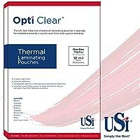 Optiクリア熱Laminating Pouches /シート、メニューサイズ(ダブル) 10 Mil