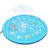 噴水マット 噴水おもちゃ プール噴水 プレイマット おもちゃ PVC プール子供用 キッズ 水遊び 親子遊び プールマット 夏対策 庭の中に遊び 家族用 芝生遊び プレゼント アウトドア 170CM