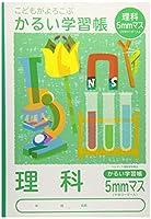 ナカバヤシ ノート かるい学習帳 ロジカルエアー 理科 5mmマス NB51-LH5