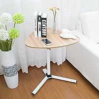 HAUYU テーブル エンドテーブル調節可能な高さラップトップデスクソファーテーブルポータブルベッドデスクスタンドラップデスク 耐久性のある