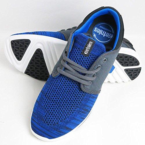 ETNIES(エトニーズ) SCOUT YB BLACK/BLUE/GREY スケートボードシューズ スニーカー ストリート系 SK8 US 9 (27cm)