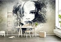 Minyose カスタム壁紙壁画ヨーロッパの芸術落書き3D水彩文字大きな家の装飾壁画写真3d壁紙-300cmx210cm