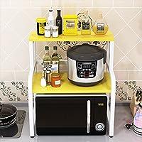 木製電子レンジラック、キッチン2層多機能オーブンラック家庭用スパイスラック食器オーガナイザー様々なスタイル複数の色60 * 42.5 * 69.5cm若者が選択 ( 色 : A )