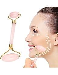 Echo & Kern  ローズクォーツフェイスマッサジローラー美顔ローラーフェイスマッサジローラー The Rose quartz facial rollers Neck Healing Slimming Massager