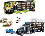 Ms.0 恐龍 動物 拖車 15 種套裝 車 玩具 手辦 吉普車 直升機