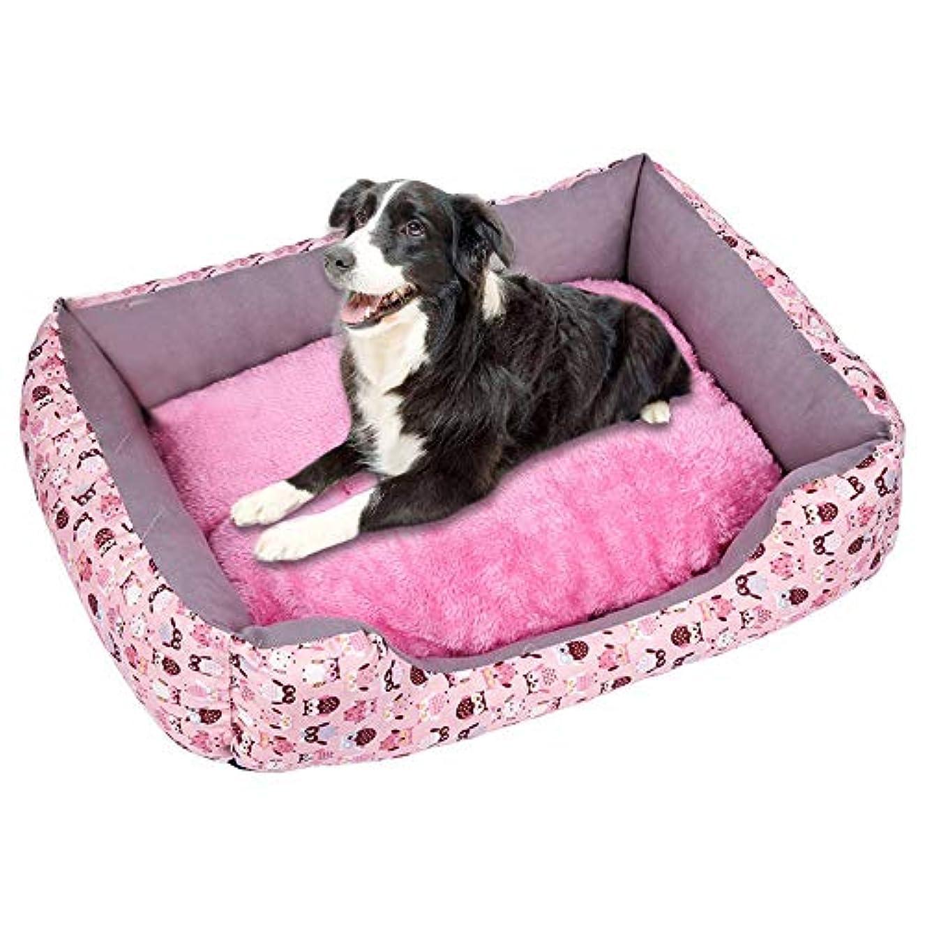 初心者成長積分プラスベルベット肥厚ペットの巣 柔らかいペット犬猫ベッド子犬クッションハウスペットソフト暖かい犬小屋犬マットブランケット 犬小屋 ペットハウス ペットネスト 犬舎 柔らかくて温かく 快適で通気性があります (B, S)