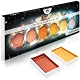 (6 Metallic - komorebi.) - Metallic Komorebi Watercolour Paint Set, with 6 Shimmery Colours, Portable and Lightweight, Perfect for Artists and Hobbyists - Mozart Supplies