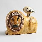 北欧ヴィンテージ スウェーデンGustavsberg(グスタフスベリ)Lisa Larson(リサ・ラーソン) 「Lion with Bird(ライオンと鳥)」