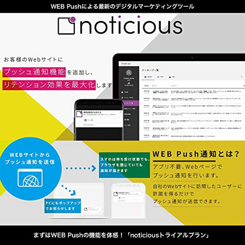 noticious トライアルプラン(Amazon限定) | 5,000通まで | サブスクリプション(定期更新)