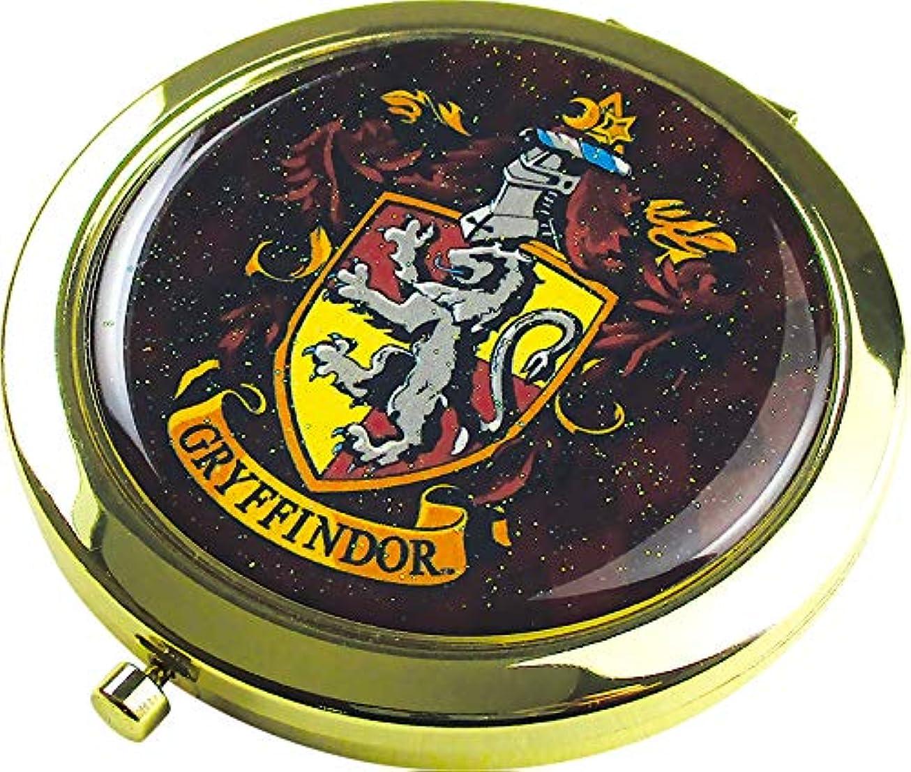 側面きちんとした世界記録のギネスブックティーズファクトリー Wコンパクトミラー ハリー?ポッター/グリフィンドール 6.6×6.6×0.8cm HP-5537053GR