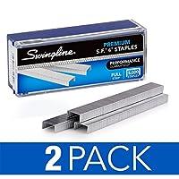 Swingline Staples、プレミアム、s.f. 4、0.25インチ長、210、ストリップあたり5, 000perボックス( s7035450) 2 Boxes
