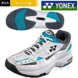 YONEX(ヨネックス)「POWER CUSHION 202(パワークッション 202) SHT-202」オールコート用テニスシューズ 24.5 ブラック/スカイブルー(572)