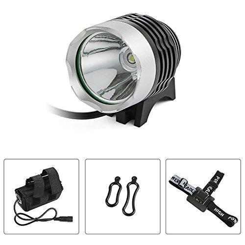 Orader 自転車LEDヘッドライト 超高輝度 XML-T6 三つモード 18650 Li-ion バッテリー付き 防水仕様 長時間照明 コンパクト アウトドア