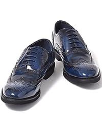 [エムエムワン] MM/ONE ビジネスシューズ メンズ 内羽根 レースアップ ウイングチップ メダリオン カジュアル ロングノーズ ドレスシューズ 紳士靴 【 MPT163-3-CPZ 】