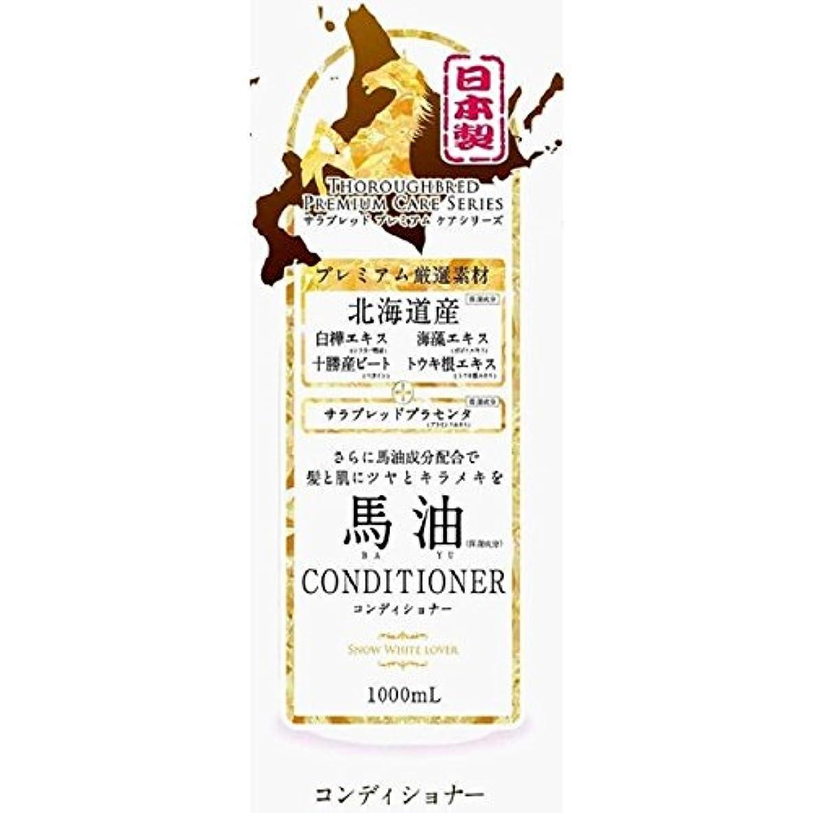 櫛導入するネズミ北海道 馬油コンディショナー 1000ml × 6本