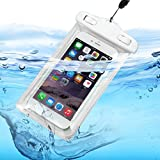 防水ケース 指紋認証対応 水に浮く スマホ用防水ポーチ アイフォン防水防塵カバー iPhoneとAndroid 6インチ以下全機種対応 高感度タッチスクリーン ネックストラップ付属(首掛け付き) IPX8認定 水中撮影 お風呂/潜水/温泉/水泳など適用