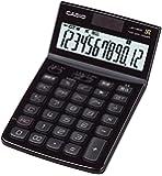 カシオ デザイン電卓 ジャストタイプ 12桁 JF-V200BK-N プレミアムブラック