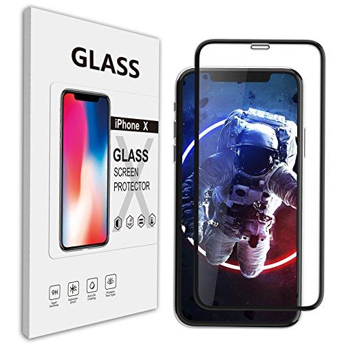 Amorno iphone x/xs ガラスフィルム フィルム x iphone x 液晶保護フィルム アイフォン x ガラスフィルム 9H強化ガラス 全面衝保護 フルセット 液体保護フィルム 高透過率 防指紋 気泡レス スムースタッチ