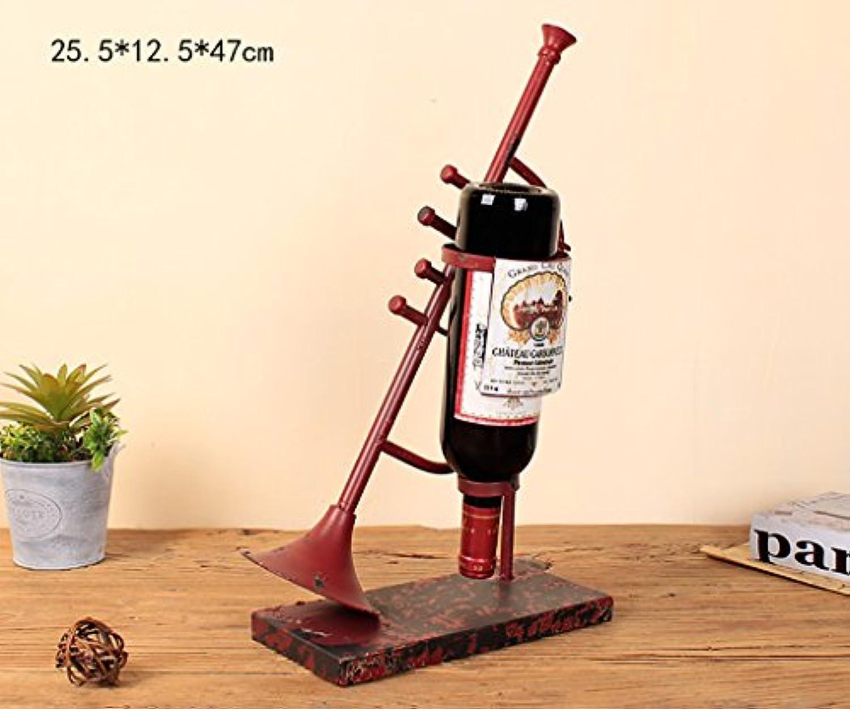 ワインホルダー ワインラックヴィンテージワインラッククリエイティブデコレーションレストランワインラックバーバーショーケースワインキャビネットオーナメントラックワインホルダ ワインラック (色 : C)