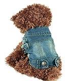 (イーエフイー)EFE 小型犬 デニム ジャケット ブルー XS/S/M/L/XL/XLL(ブルー, XL)