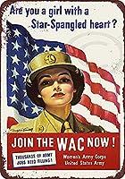なまけ者雑貨屋 Women's Army Corps United States ブリキ看板 壁飾り レトロなデザインボード ポストカード サインプレート 【40×30cm】
