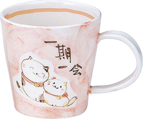 風水 猫 マグ(桃) K1238