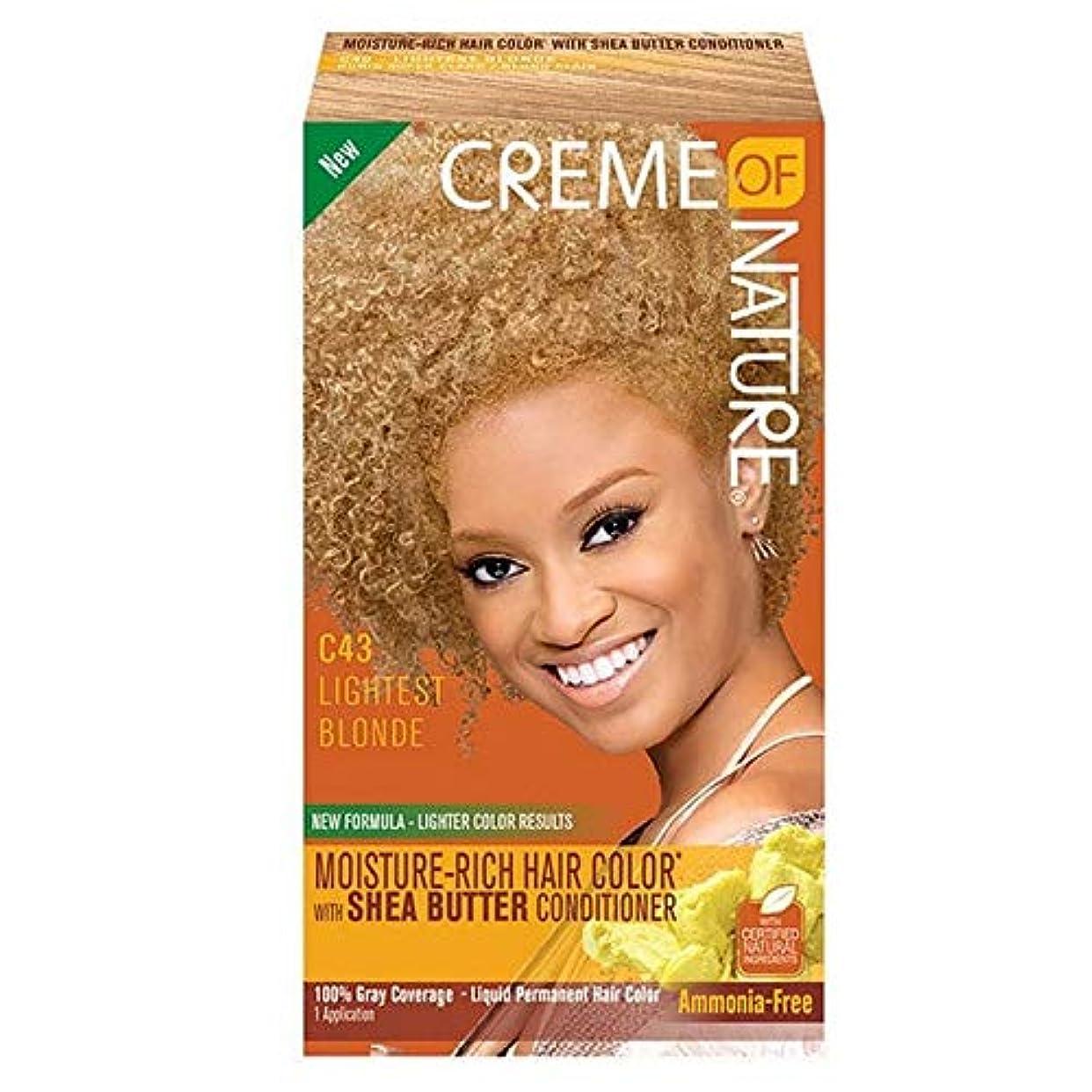 家庭教師過半数コンサート[Creme of Nature ] 自然液体ヘアカラー#43明るい金髪のクリーム - Creme of Nature Liquid Hair Colour #43 Light Blonde [並行輸入品]
