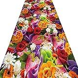 YANZHEN ランナー カーペッ花柄 低パイル 滑り止め 厚さ7mm 廊下 ホール ブレンド生地 複数のサイズ (色 : A, サイズ さいず : 1.8 x 5m)
