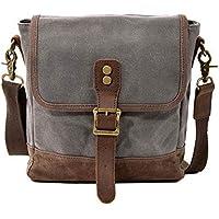 Neumora Small Messenger Bag Vintage Canvas Mini Shoulder Bags Crossbody Purse Waterproof for Men Women