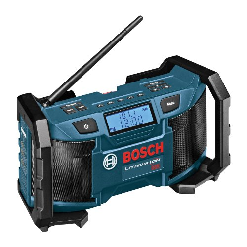 Bosch PB180 18-Volt Lithium-Ion or 120V Compact AM/FM Radio with MP3 Player Connection Bay by BOSCH