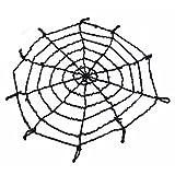 MyMei ハロウィン飾り お化け屋敷装飾用品 クモの巣  蜘蛛の巣 メッシュ ワイヤー  スパイダーウェブ ハロウィーン小道具 壁飾り 壁デコレーション 壁装飾  直径1.5m (ブラック)