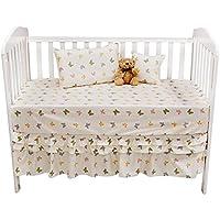 Brandream 800TC Baby Bedding Butterfly For Girls Crib Bedding Crib Sheets Set 100% Cotton Nursery Bedding Baby Shower Gift 5-Piece [並行輸入品]
