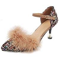 [NIGHT CHERRY] 靴 レディース 美脚 パンプス ピンヒール ポインテッドトゥ パンプス ストラップ 披露宴 39AS Black